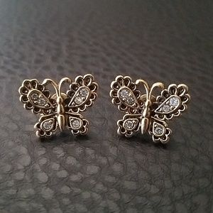 Avon butterfly earrings